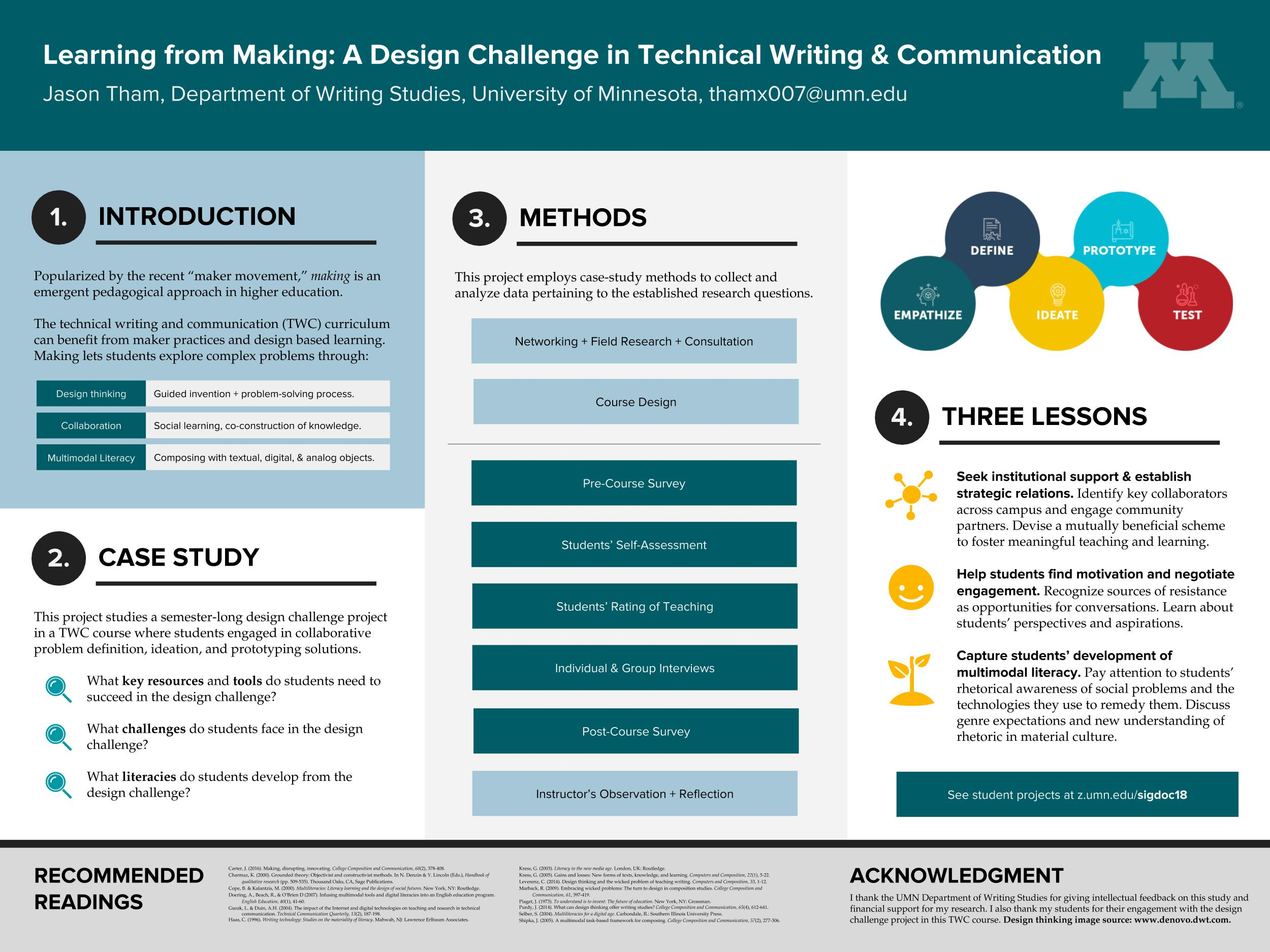 SIGDOC 2018 - Learning from Making [Poster]